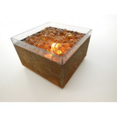 Short Outdoor Fire Pit in Rust