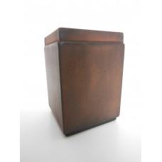 Tall Square Rust Pot