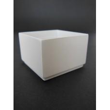 Short Square White Pot
