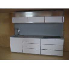 Kitchen Wall with Upper Cabinets